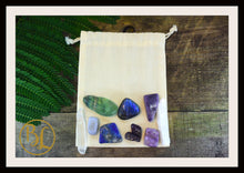Load image into Gallery viewer, CROWN CHAKRA Gemstone 9 Kit  Crown Chakra Crystal Crown Chakra Crystal Intention Lithiotherapy