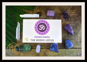 CROWN CHAKRA Gemstone 9 Kit  Crown Chakra Crystal Crown Chakra Crystal Intention Lithiotherapy
