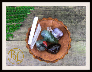 CLEANSING AURA Gemstone Kit 7 Cleansing Aura Set Crystals Cleansing Aura Stone Lithiotherapy
