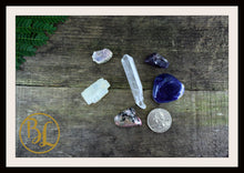 Load image into Gallery viewer, PINEAL GLAND Gemstone Kit 6 Healing Pineal Gland Gemstone Set Crystals Intention Lithiotherapy