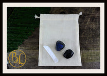 Load image into Gallery viewer, PROTECTION Gemstone Kit 3 Healing Protection Stones Crystal Protection Intention Lithiotherapy