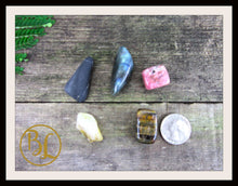 Load image into Gallery viewer, DIGESTION Gemstone Kit 5 Digestion Stones & Crystals Healing Disgestion Intention Lithiotherapy