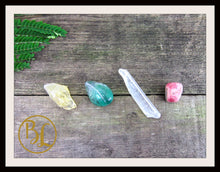Load image into Gallery viewer, STUDENT CRYSTALS Gemstone Kit 4 Student Stones Set Student Crystals Set Intention Lithiotherapy
