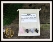 Load image into Gallery viewer, BRUISES Gemstone Kit 4 Bruises Stones & Crystals Healing Set Bruises Crystals Lithiotherapy