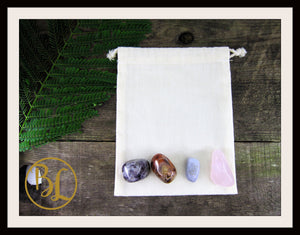 ANGER Gemstone Kit 4 Healing Anger Gemstone Set Crystals Anger Healing Intention Lithiotherapy