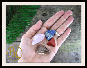 GRIEF Gemstone Kit 4 Healing Grief Gemstone Set Crystals Stone Grief Intention Stones Lithiotherapy