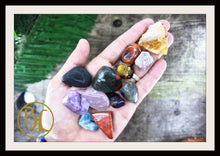 Load image into Gallery viewer, LIVER Gemstone Kit 12 Healing Liver Gemstone Set Healing Crystals Liver Intention Lithiotherapy