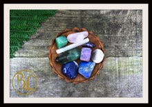 Load image into Gallery viewer, LUNGS Gemstone Kit 7 Healing lungs Gemstone Set Healing Crystals Lungs Intention Lithiotherapy
