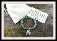 Load image into Gallery viewer, Green Aventurine CHOOSE YOUR CHARM Mala Bracelet Green Aventurine Charm Mala Bracelet Meditation Green Aventurine Yoga Charm Mala Bracelet