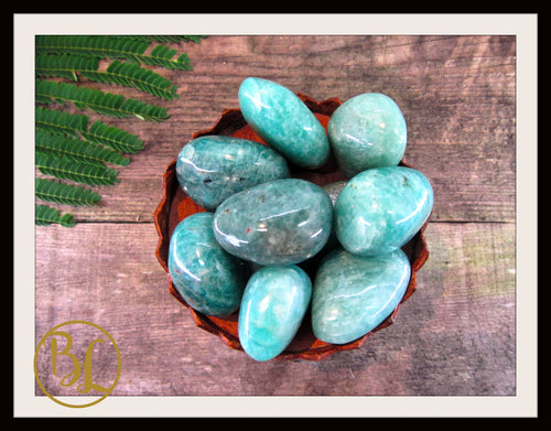 AMAZONITE Gemstone 3 Piece Set Healing Amazonite Crystal Kit Amazonite Intention Lithiotherapy