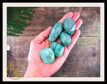 Load image into Gallery viewer, AMAZONITE Gemstone 3 Piece Set Healing Amazonite Crystal Kit Amazonite Intention Lithiotherapy
