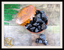 Load image into Gallery viewer, BLACK TOURMALINE Gemstone 3 Piece Set Healing Tourmaline Crystals Tourmaline Lithiotherapy