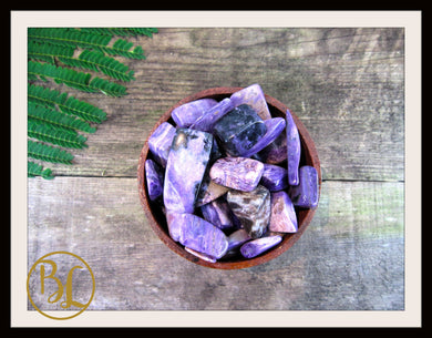 CHAROITE  Gemstone 3 Piece Set Healing Charoite Crystals Charoite Intention Lithiotherapy
