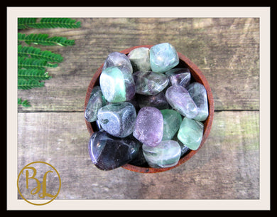 FLUORITE Gemstone 3 Piece Set Healing Fluorite Crystal Healing Fluorite Intention Lithiotherapy