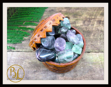 Load image into Gallery viewer, FLUORITE Gemstone 3 Piece Set Healing Fluorite Crystal Healing Fluorite Intention Lithiotherapy