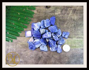 LAPIS LAZULI Gemstone 3 Piece Set Healing Lapis Lazuli Crystals  Intention Lithiotherapy