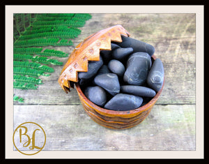 SHUNGITE Gemstone 3Piece Set Healing Shungite Crystal Kit Shungite Intention Set Lithiotherapy