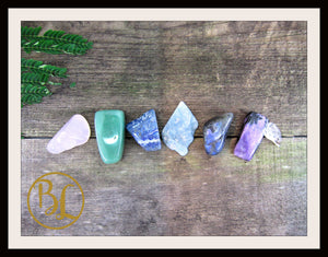 STRESS Gemstone Kit 8 Healing Stress Gemstone Healing Crystal Stress Intention Lithiotherapy
