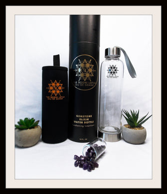 AMETHYST Eau De Gemme CLARITY Gemstone Elixir Water Bottle Amethyst Clarity Gemstone Water