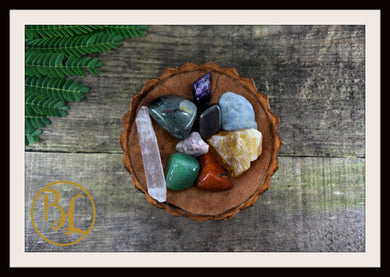 ARIES Gemstone Kit 9 Zodiac Aries  Set Healing Crystals Healing Aries Intention Lithiotherapy