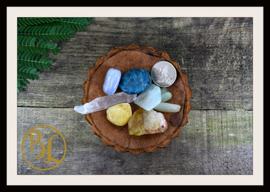 GEMINI Gemstone 7 Kit Zodiac Gemini Gemstone Set Healing Crystal Gemini Intention Lithiotherapy