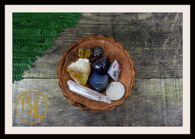 LEO Gemstone Kit 7 Zodiac Leo Gemstones Set Healing Crystals Zodiac Leo Intention Lithiotherapy