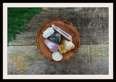 LIBRA Gemstone Kit 5 Zodiac Libra Gemstones Set Healing Crystals Libra Intention Lithiotherapy