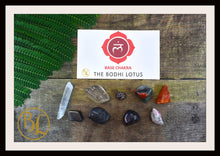 Load image into Gallery viewer, ROOT CHAKRA Gemstone Kit 9 Healing  Base Chakra Gemstone Crystals Stone Intention Lithiotherapy