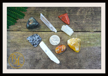 Load image into Gallery viewer, SACRAL CHAKRA Gemstone Kit 8 Healing Sacral Chakra Stones  Crystals Set Intention Lithiotherapy