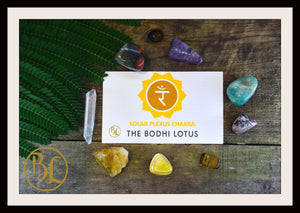 SOLAR PLEXUS CHAKRA Gemstone Kit 8 Healing Solar Plexus Chakra Crystals Intention Lithiotherapy