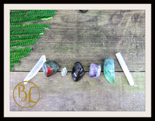 Load image into Gallery viewer, CLEANSING AURA Gemstone Kit 7 Cleansing Aura Set Crystals Cleansing Aura Stone Lithiotherapy