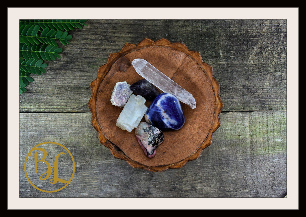 PINEAL GLAND Gemstone Kit 6 Healing Pineal Gland Gemstone Set Crystals Intention Lithiotherapy