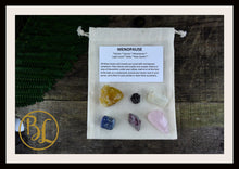 Load image into Gallery viewer, MENOPAUSE Gemstone Kit  Healing Menopause Set Healing Crystal Menopause Intention Lithiotherapy