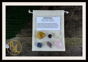 MENOPAUSE Gemstone Kit  Healing Menopause Set Healing Crystal Menopause Intention Lithiotherapy