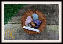 Load image into Gallery viewer, EMOTIONAL PEACE Gemstone Kit 7 Healing Emotional Peace Emotional Peace Intention Lithiotherapy