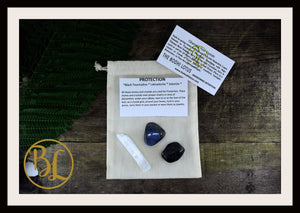 PROTECTION Gemstone Kit 3 Healing Protection Stones Crystal Protection Intention Lithiotherapy