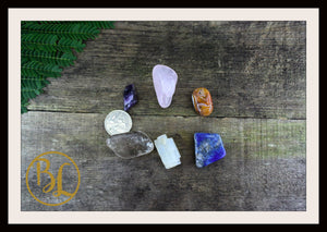 DISPEL NEGATIVITY Gemstone Kit 6 Healing Dispel Negativity Crystals Intention Lithiotherapy