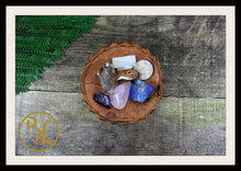 Load image into Gallery viewer, DISPEL NEGATIVITY Gemstone Kit 6 Healing Dispel Negativity Crystals Intention Lithiotherapy