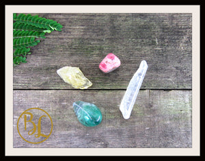 STUDENT CRYSTALS Gemstone Kit 4 Student Stones Set Student Crystals Set Intention Lithiotherapy