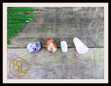 Load image into Gallery viewer, ANGER Gemstone Kit 4 Healing Anger Gemstone Set Crystals Anger Healing Intention Lithiotherapy
