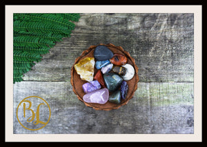 LIVER Gemstone Kit 12 Healing Liver Gemstone Set Healing Crystals Liver Intention Lithiotherapy