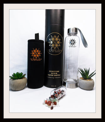 CONCENTRATION Eau De Gemme Hematite Fluorite Carnelian Gemstones Elixir Water Bottle Concentration