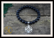 Load image into Gallery viewer, Volcano Lava CHOOSE YOUR CHARM  Mala Bracelet Lava Rock Mala Lava Rock Charm Bracelet