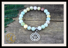 Load image into Gallery viewer, Raw Amazonite CHOOSE YOUR CHARM Mala Bracelet Raw Amazonite Charm Mala Bracelet Meditation Mala