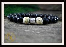 Load image into Gallery viewer, Genuine Shungite Bracelet Black Gemstone Bracelet Shungite Bracelet Shungite Russia Lotus Seed
