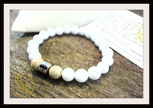 Load image into Gallery viewer, Genuine White Jade Bracelet White Gemstone Bracelet White Jade Bracelet White Jade Lotus Seed