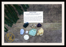 Load image into Gallery viewer, INFECTIONS Gemstone Kit 7 Healing Infections Gemstone Set Healing Crystals Stones for Infections Healing Intention Stones Lithiotherapy