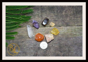 SUN Gemstone Kit 7 Healing Sun Gemstone Set Healing Crystal Stones for The Sun Healing Intention Stone Lithiotherapy Sun Crystals and Stones