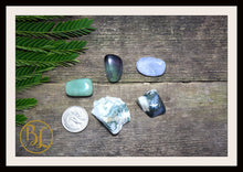Load image into Gallery viewer, MERCURY Gemstone Kit 5 Healing Mercury Gemstone Set Healing Crystal Stones for Planet Mercury Healing Intention Stone Lithiotherapy Mercury