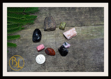 Load image into Gallery viewer, MARS Gemstone Kit 8 Healing Mars Gemstone Set Mars Healing Crystal Stones for Planet Mars Healing Intention Stone Lithiotherapy Mars Crystal